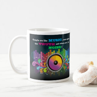 Colorful Equalizer People Are Like Music Quote Coffee Mug