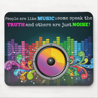 Colorful Equalizer People Are Like Music Quote Mouse Pad
