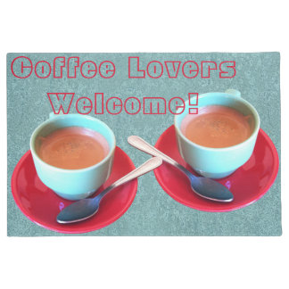 Colorful Espresso Cup and Saucer Photograph Doormat