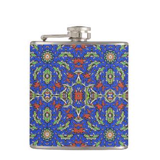 Colorful Ethnic Design Hip Flask