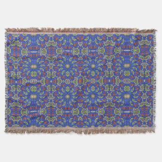 Colorful Ethnic Design Throw Blanket