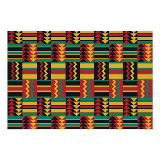 Colorful Ethnic Pattern Poster
