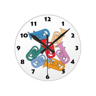 Colorful Euphonium Round Clock