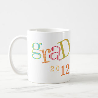 Colorful excitement graduation class year custom basic white mug