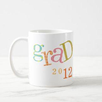 Colorful excitement graduation class year custom basic white mug