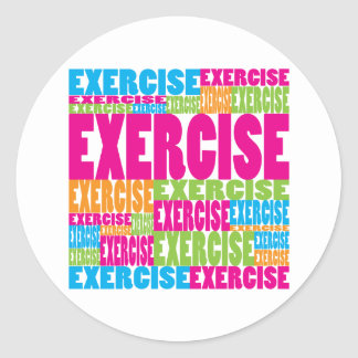 Colorful Exercise Round Sticker