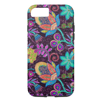 Colorful Exotic Flowers Glass-Beads Effect iPhone 8/7 Case