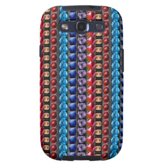 COLORFUL Exotic Jewel Crystal Stone Pattern GIFTS Samsung Galaxy S3 Cases