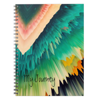 Colorful Explosion Spiral Note Books