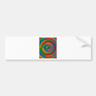 colorful eyecatching design bumper sticker