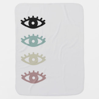 colorful eyes baby blanket