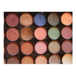 Colorful eyeshadows postcard