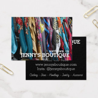 Colorful Fabrics Photography Boutique Fashion Shop Business Card