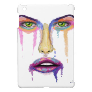 Colorful Face Dripping - Contemporary Art Cover For The iPad Mini