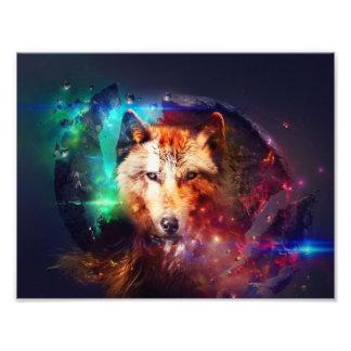 Colorfulface wolf art photo