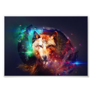 Colorfulface wolf photo