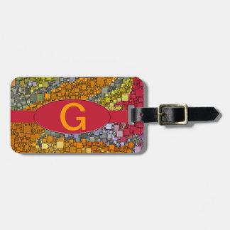 Colorful Fall Bouquet Box Design Luggage Tag