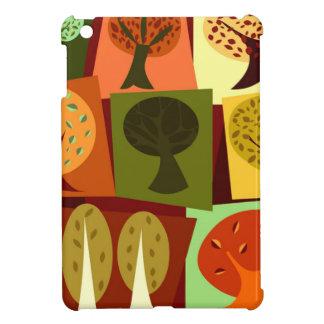 Colorful fall cartoon trees case for the iPad mini