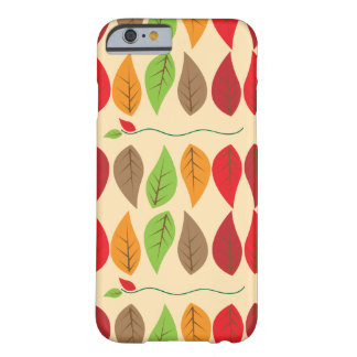 Colorful Fall Leaf Pattern Barely There iPhone 6 Case