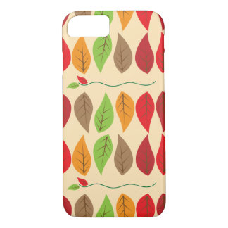 Colorful Fall Leaf Pattern iPhone 7 Case