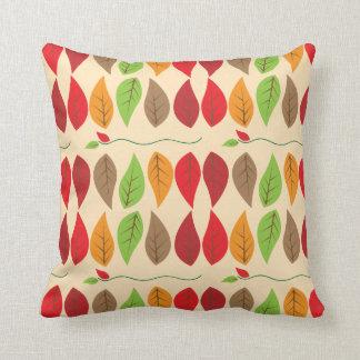 Colorful Fall Leaf Pattern Throw Cushions