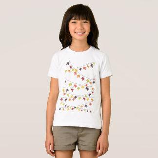 Colorful fall leaf strings T-Shirt