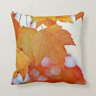 Colorful Fall Leaves Throw Cushions