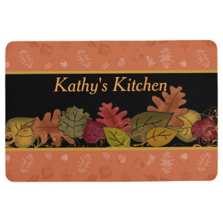 Colorful Fall Leaves Custom Floor Mat