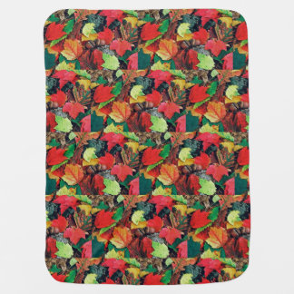 Colorful fall leaves for baby: baby blanket