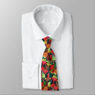 Colorful fall leaves for the man: tie