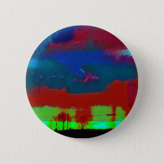 Colorful Fall Toned Abstract Horizon Sky 6 Cm Round Badge