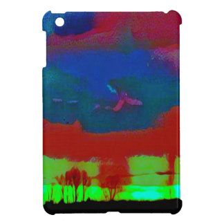 Colorful Fall Toned Abstract Horizon Sky iPad Mini Cover