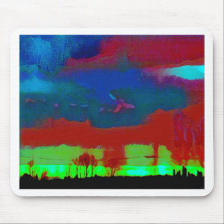 Colorful Fall Toned Abstract Horizon Sky Mouse Pad