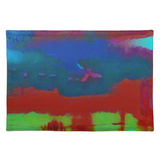 Colorful Fall Toned Abstract Horizon Sky Placemat