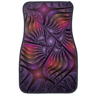 Colorful Fantasy Abstract Modern Purple Fractal Car Mat