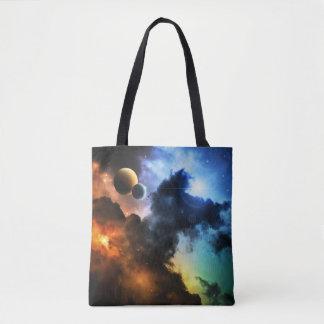 Colorful Fantasy Nebula All-Over-Print Tote Bag