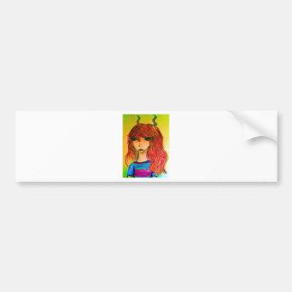 Colorful fauna bumper sticker