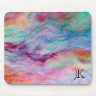 Colorful Faux Agate Stone Mouse Pad