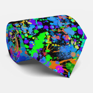 Colorful, Faux Neon, Paintball, Fun Tie