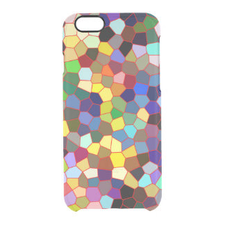 Colorful Faux Stained Glass Look Clear iPhone 6/6S Case