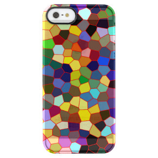 Colorful Faux Stained Glass Look Clear iPhone SE/5/5s Case