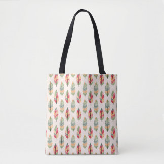 Colorful Feather Pattern Tote Bag