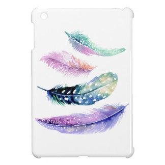 Colorful Feathers Custom White iPad Mini Case