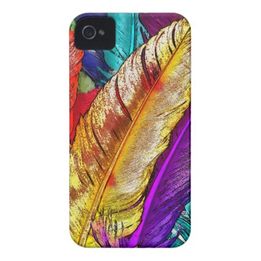 COLORFUL FEATHERS iPhone 4 Case-Mate Case