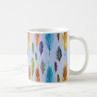 Colorful Feathers Pattern Coffee Mug