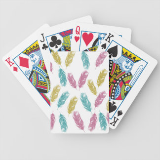 Colorful Feathers pattern Poker Deck