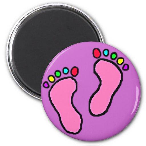 Colorful Feet Cartoon Refrigerator Magnet