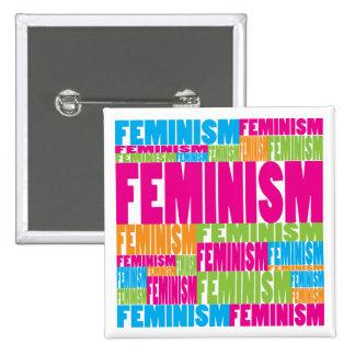 Colorful Feminism 15 Cm Square Badge