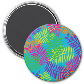 Colorful Fern Textile Refrigerator Magnet