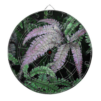 Colorful Ferns Dart Board